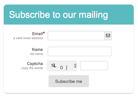 clear-Subsrcibe to mailing list - Form