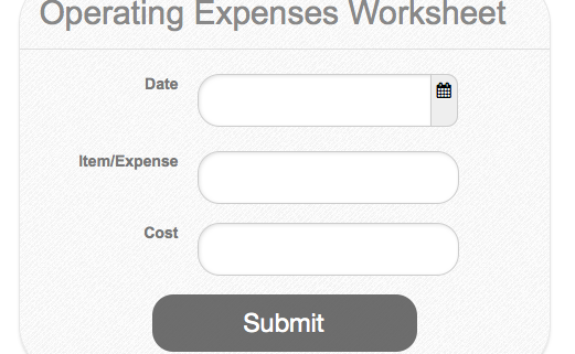 Simple Operating Expenses Worksheet